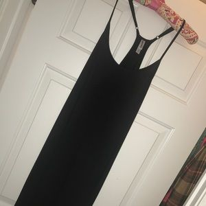 Black cotton long Maxi dress